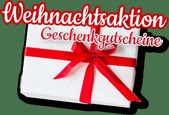 Weihnachtsaktion Geschenkgutscheine